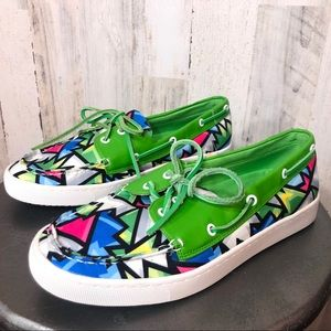 Loudmouth Neon Crystal Sailor Boat Shoes